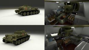 3d model soviet interior t