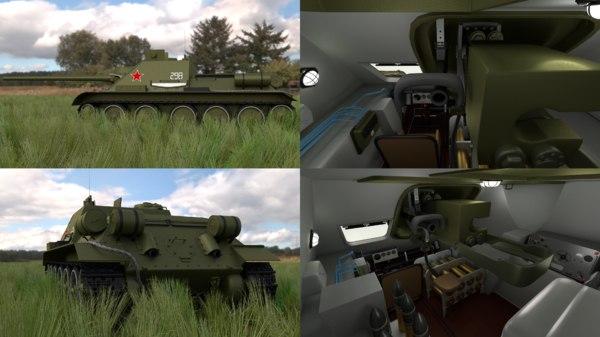 soviet tank interior hdri obj