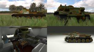 soviet tank interior engine 3d obj