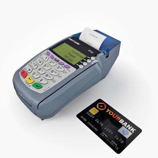 card terminal 3d model