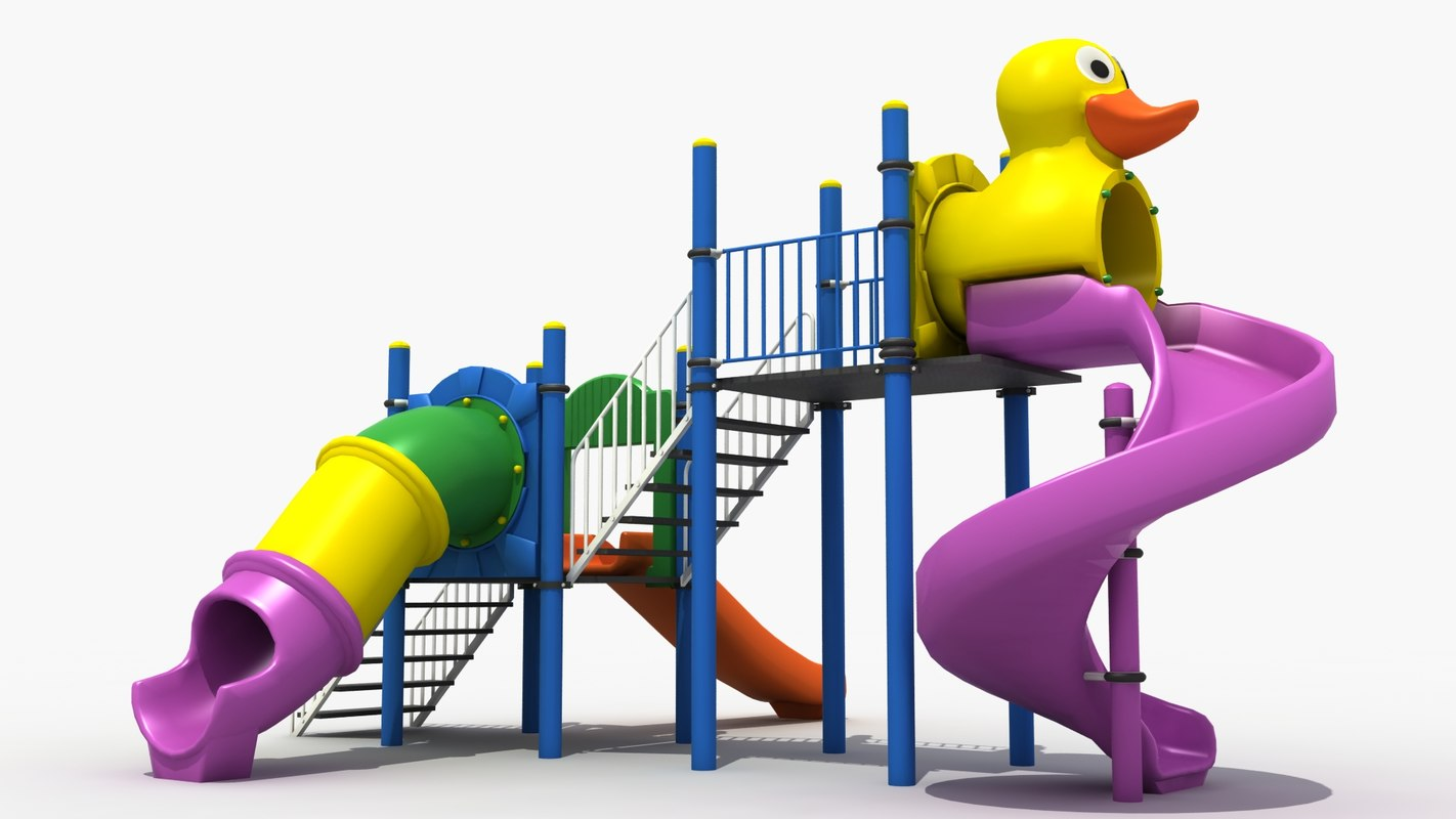 3d outdoor playground model