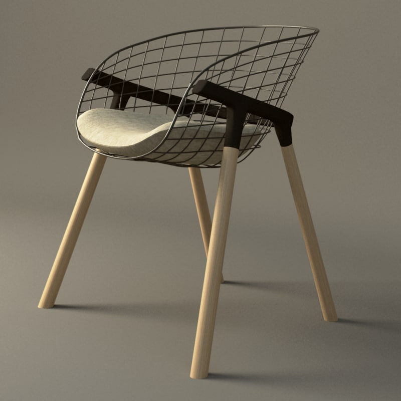 3d model chair contemporary