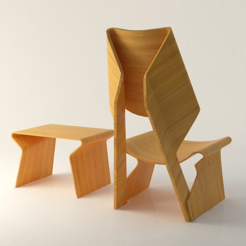 max chair contemporary polywood