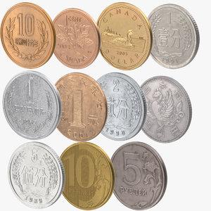 3d fen coins model