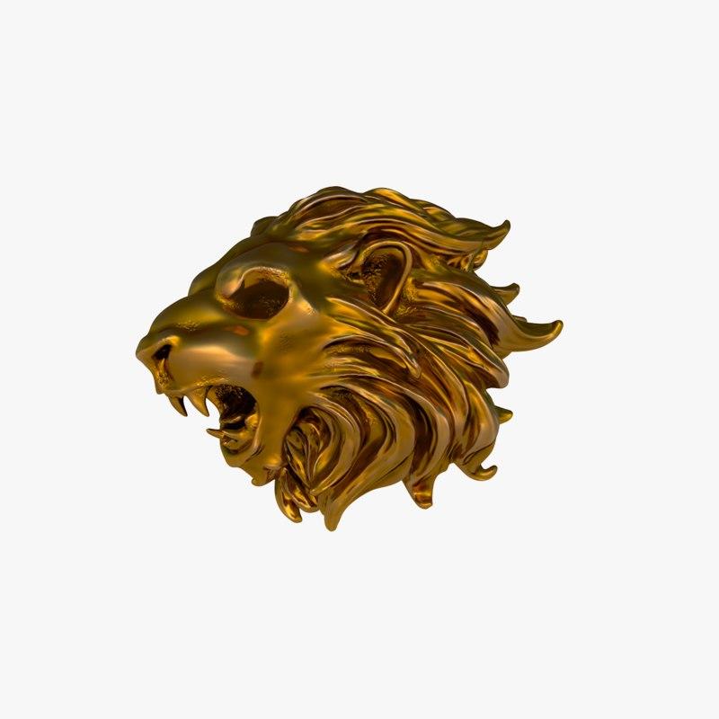 c4d head s lion