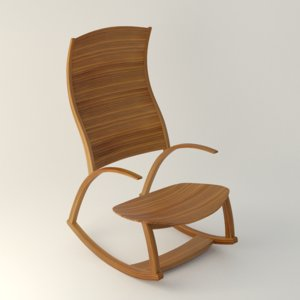 3d model rocking chair