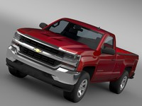 3d model chevrolet silverado ls regular