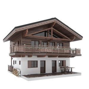 3d max chalet house