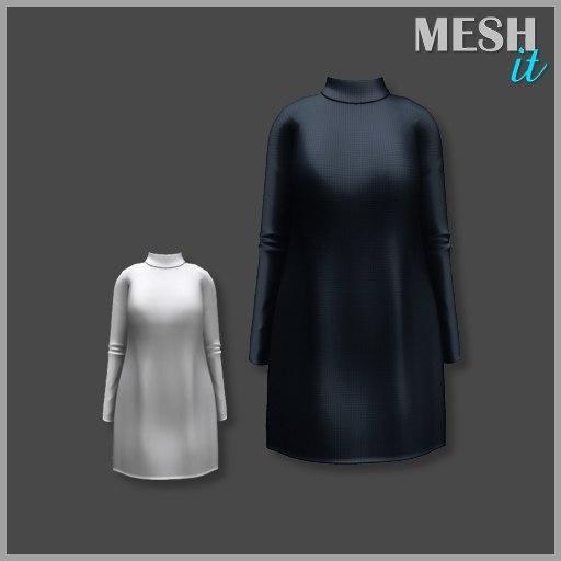 3d dress black
