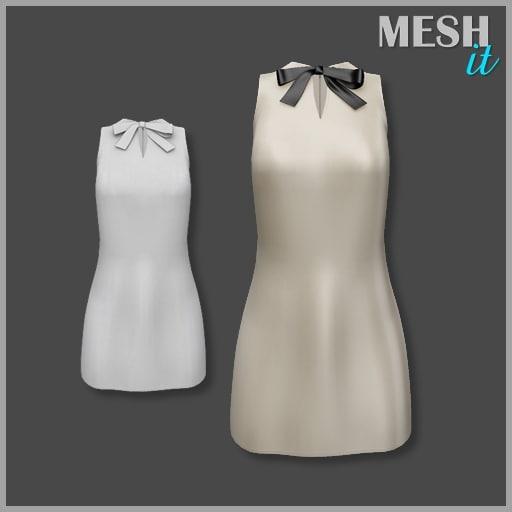 3ds dress beige bow