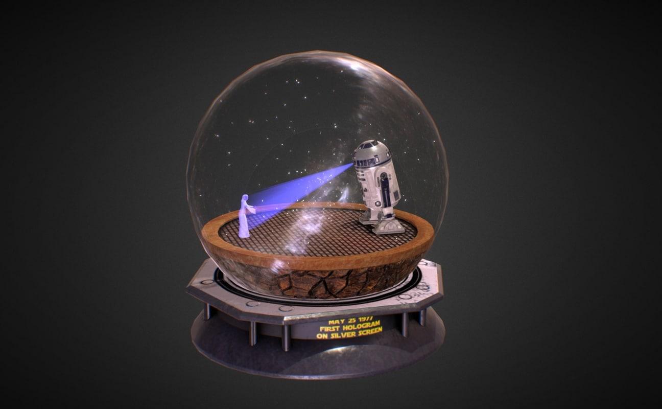 3d model - snow globe