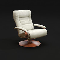 3d model thor reclining chair lafer