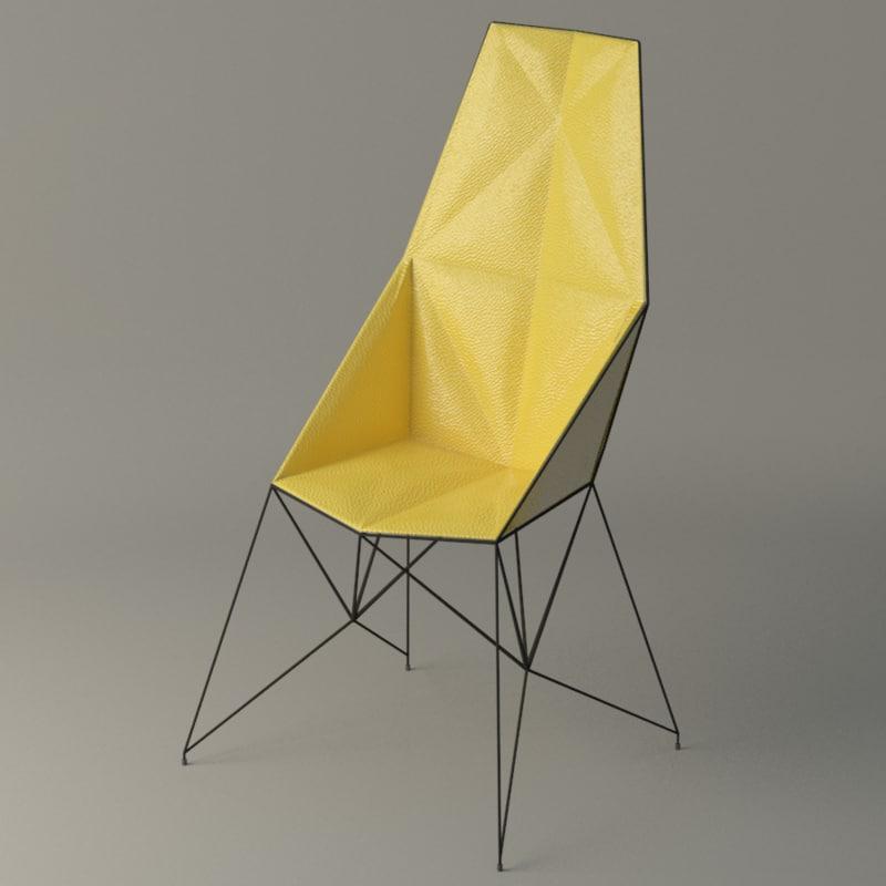 mayflower armchair chair 3d max