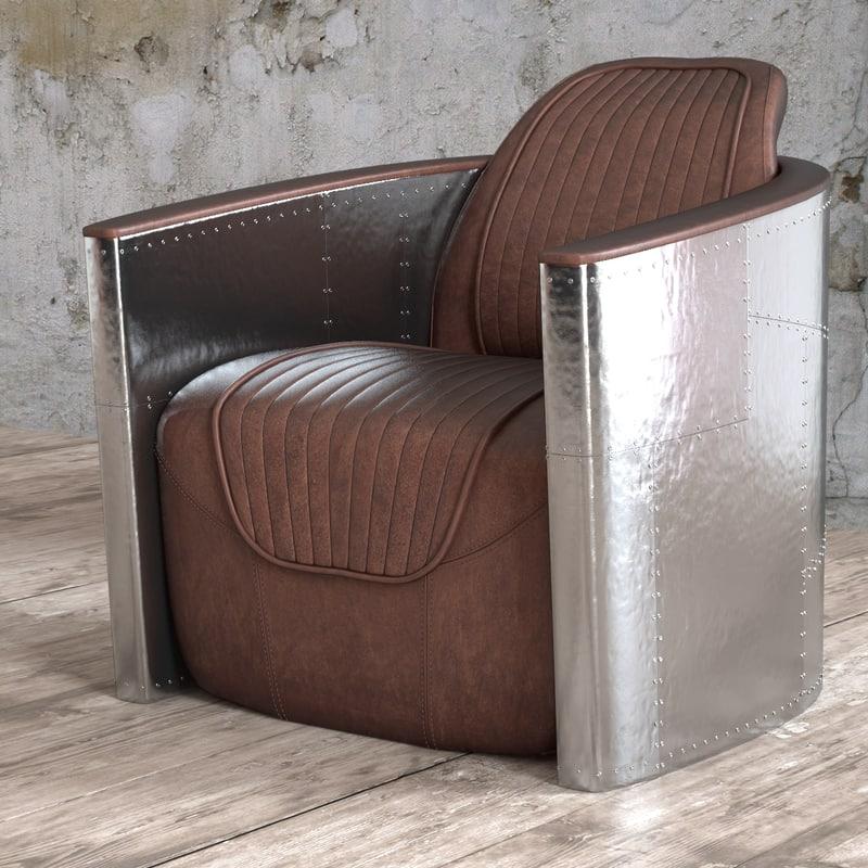 seat aviator tomcat chair 3d obj