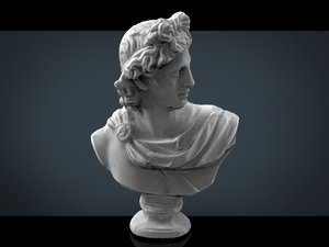 roman bust 3ds
