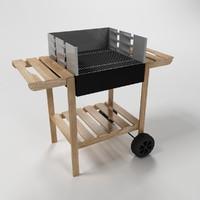 wooden grill 3d max