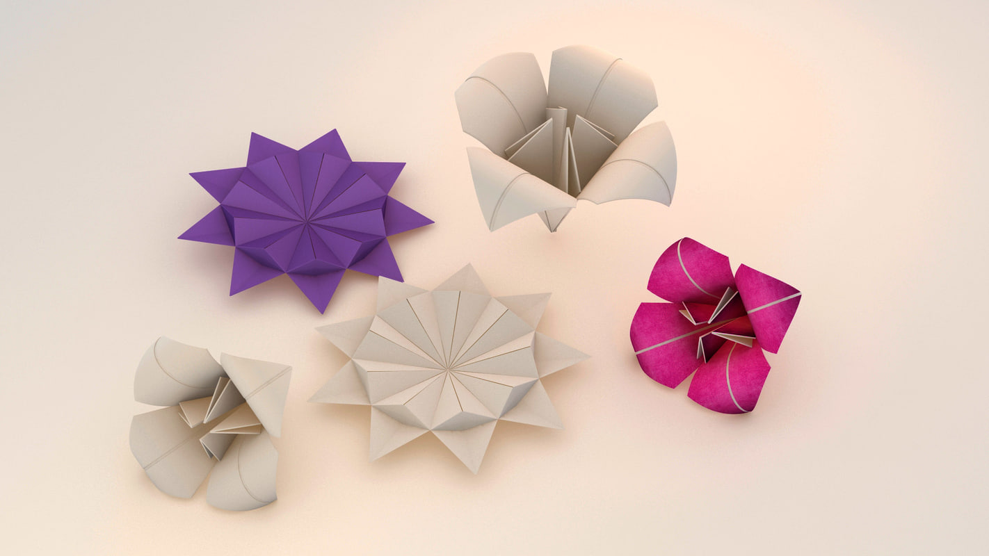 3d model origami paper
