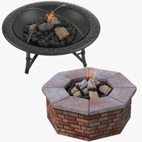 Metal and Brick Fire Pits