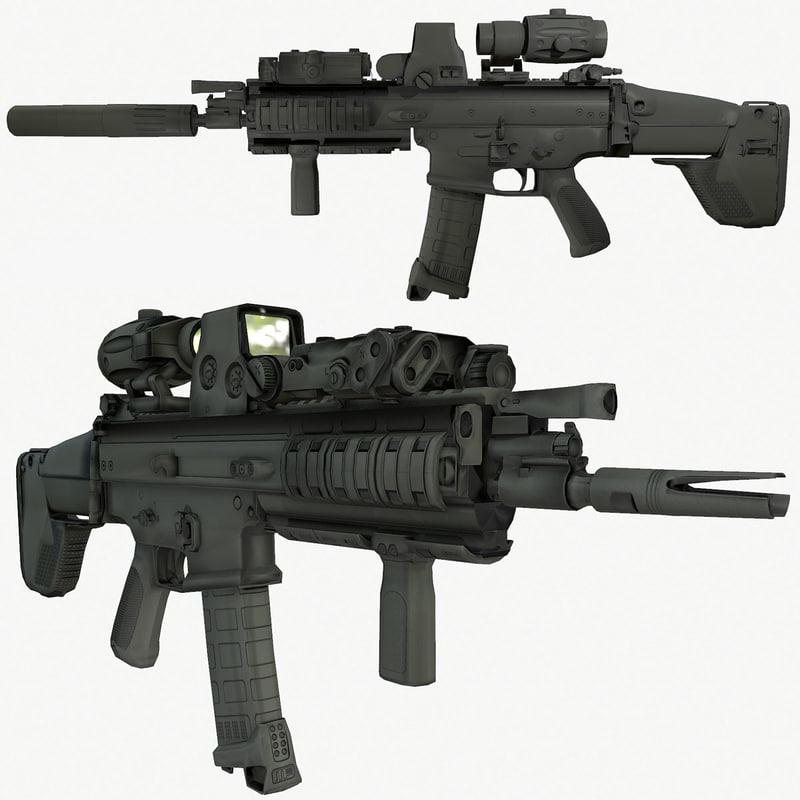 3d ready fn assault rifle model