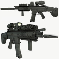3d ready fn assault rifle model