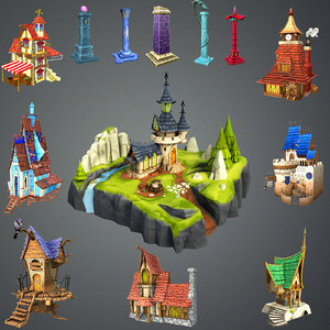 fantasy stylized 3d max