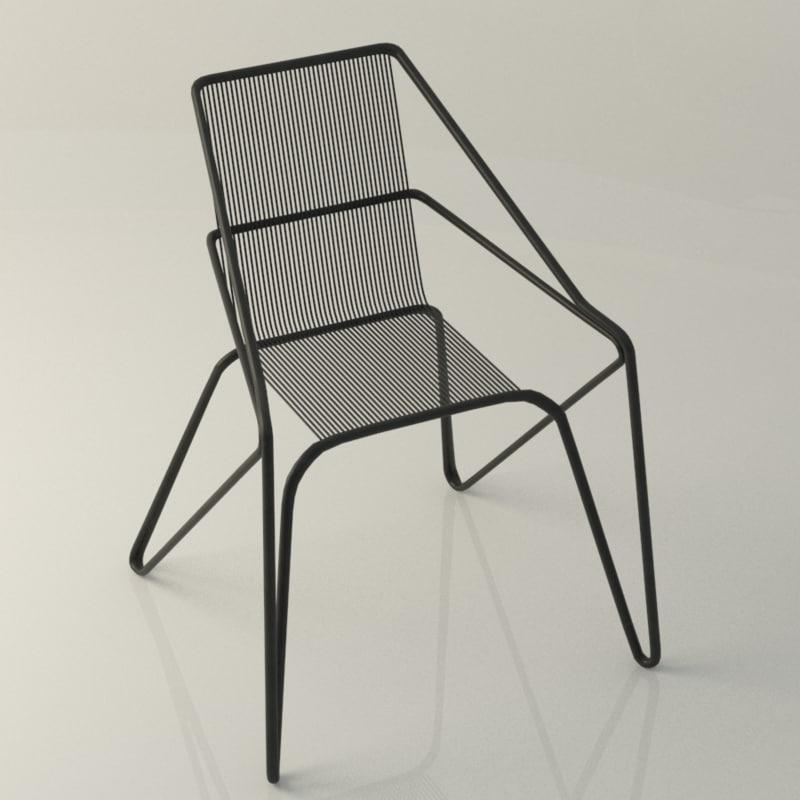 lattice iron frame 3d model