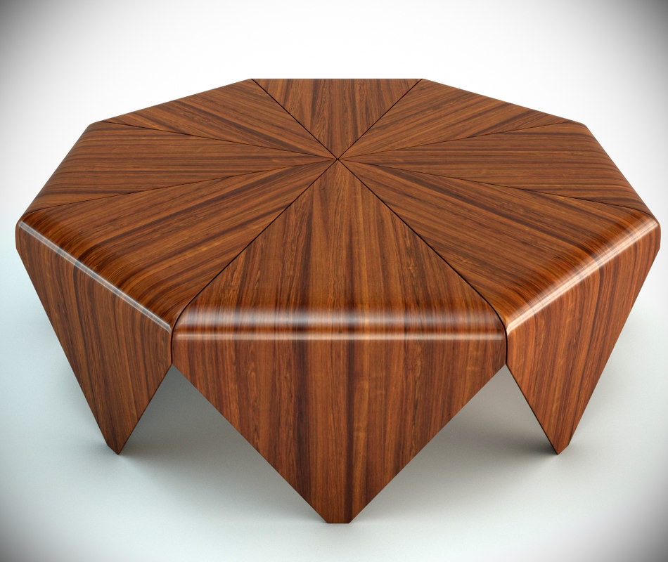 petalas coffee table 3d model