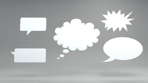 speech bubbles c4d
