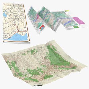 3d model of maps