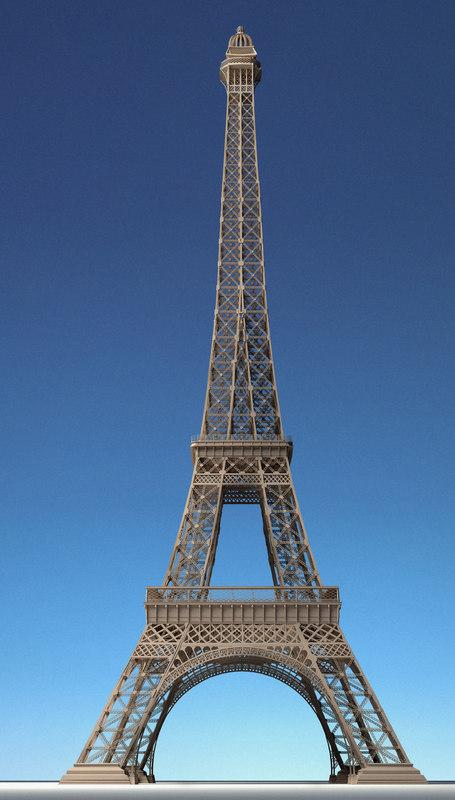 eiffel tower obj