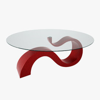 curved modern table 3d model