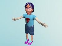 3d model of kid