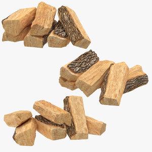 firewood small stacks 3d max