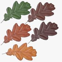 oak leafs 3d obj