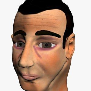 3d model of bogart head