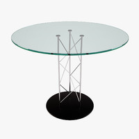 3d model glass steel modern table