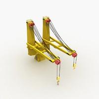 3d ship crane deck