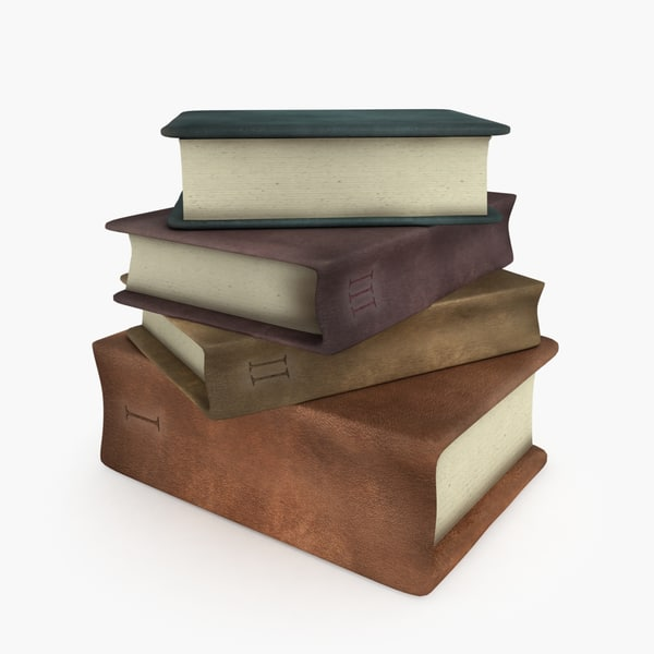 old books 3d model