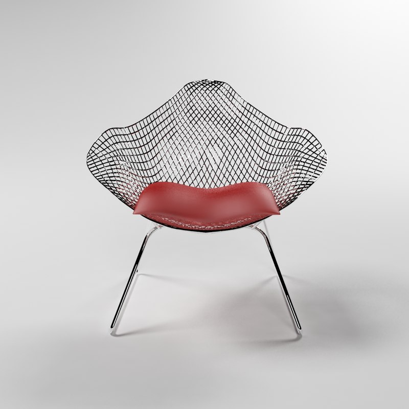 3d max metal wire outdoor chair