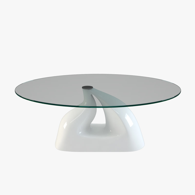 3d model curved modern table