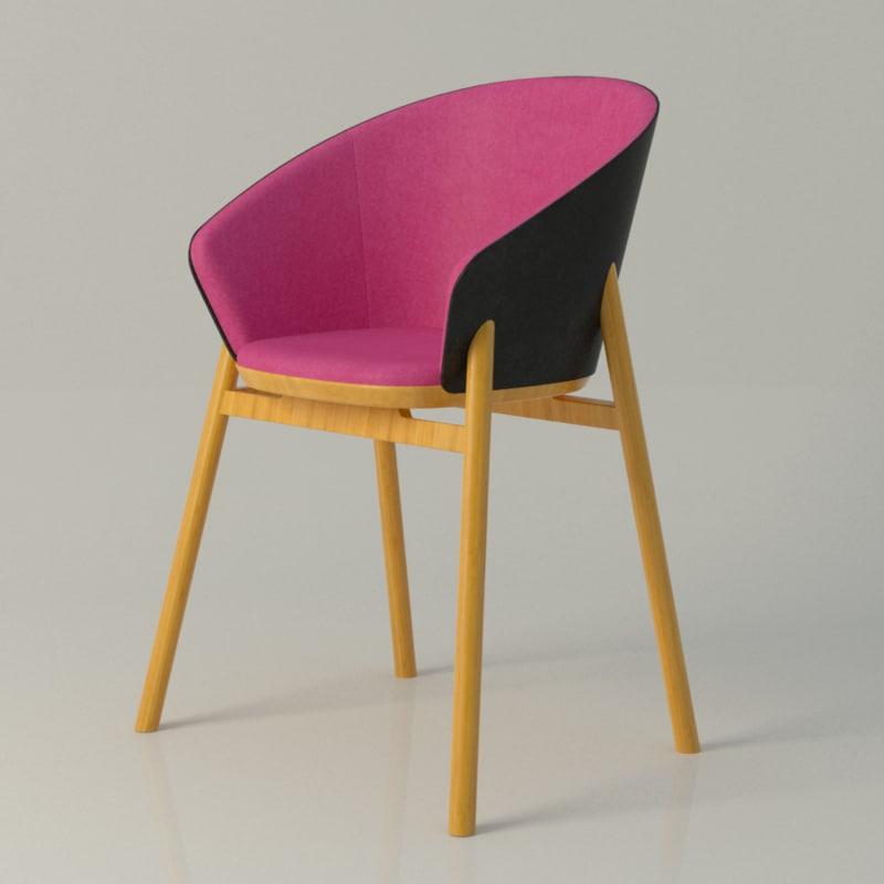3d model jacob nitz chair