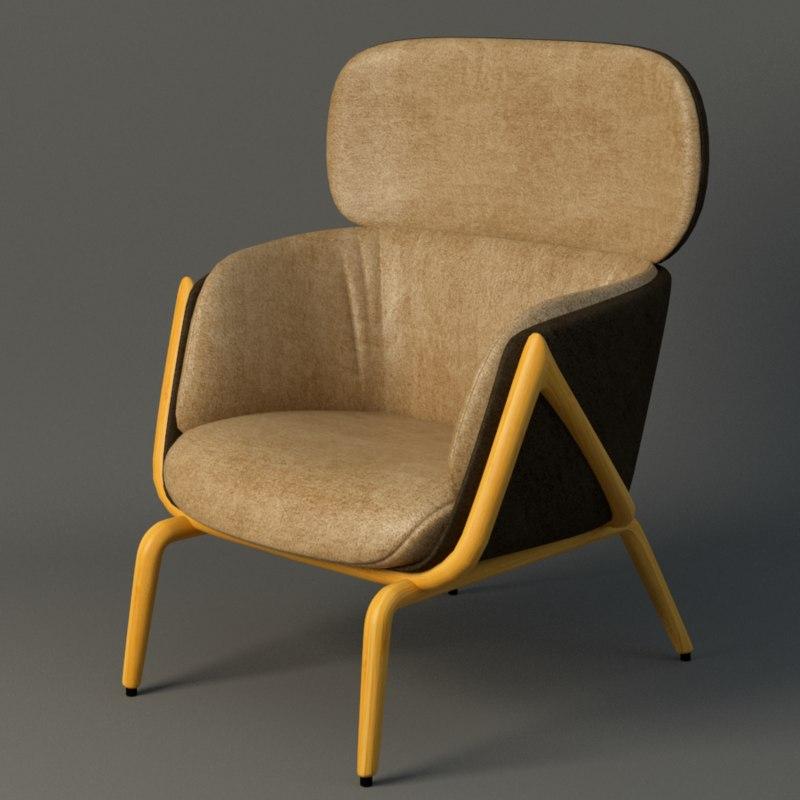 elysa chair 3d model