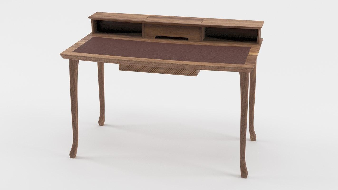 3d desk study furniture