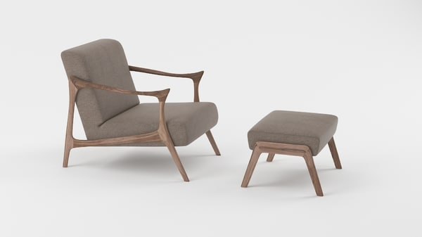 3d model armchair furniture