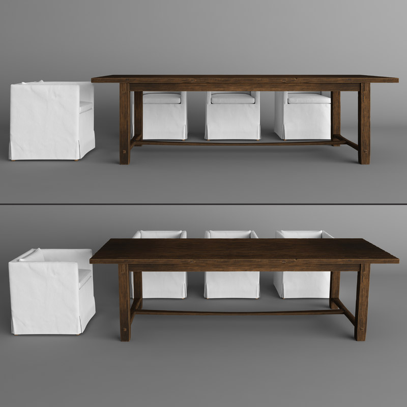 armchair dining table 3d max