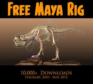 free t rex 2 3d model