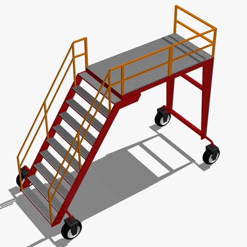 3d model of rolling industrial platform