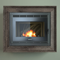 French fireplace insert glass Tertio 74