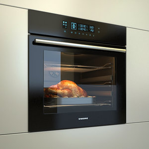 3d model built-in electric oven samsung