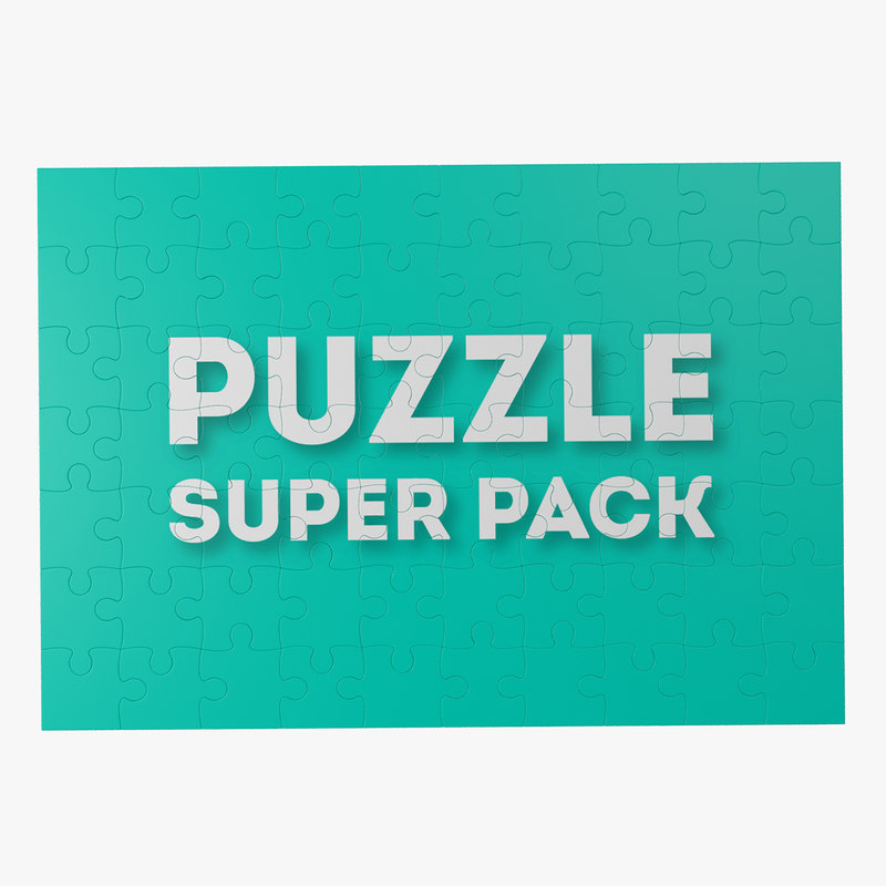 3d model puzzle toy jigsaw